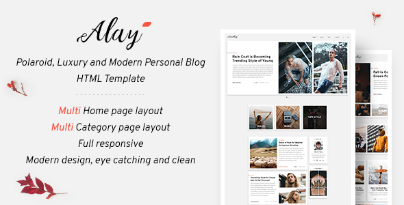 [Free Download] Alay – Luxury BLog HTML Template with Dark Mode (Nulled) [Latest Version]
