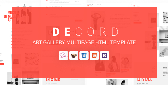 [Free Download] Decord – HTML Art Gallery Template (Nulled) [Latest Version]