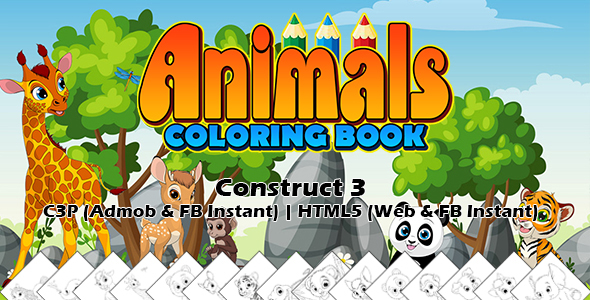 [Free Download] Animals Coloring Book App (Construct 3 | C3P | HTML5) Admob and FB Instant Ready (Nulled) [Latest Version]