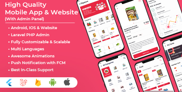 [Free Download] Grocery, Clothes, Pharmacy, Food, Electronics, Jewellery Mobile App with Admin Panel (Flutter & PHP) (Nulled) [Latest Version]