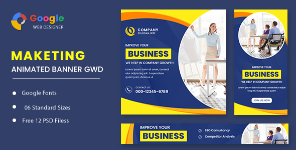 [Free Download] Business Maketing Animated Banner GWD (Nulled) [Latest Version]