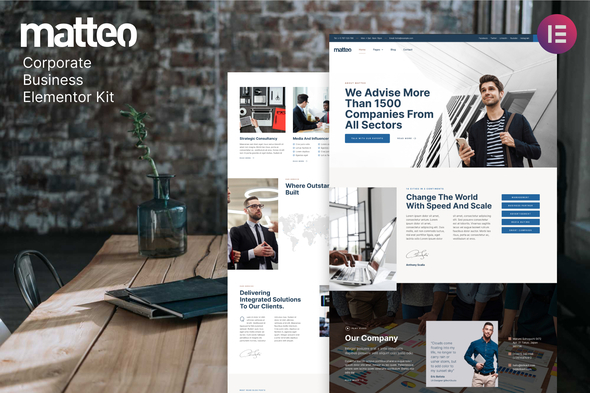 [Free Download] Matteo – Corporate Business Elementor Template Kit (Nulled) [Latest Version]