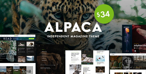 [Free Download] Alpaca – Independent Magazine WordPress Theme (Nulled) [Latest Version]