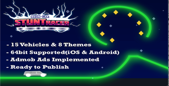 [Free Download] Neon Car Stunt Racer – Complete Unity Template (Nulled) [Latest Version]