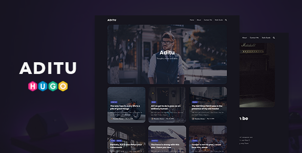 [Free Download] Aditu – Dark Theme for HUGO Static Site Generator (Nulled) [Latest Version]