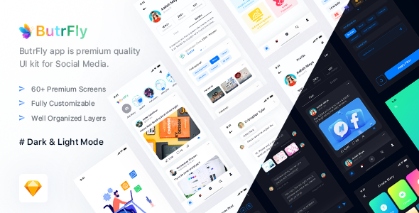 [Free Download] ButrFly – Social UI Kit for Sketch (Nulled) [Latest Version]