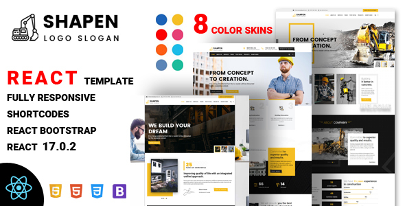[Free Download] Shapen – Construction React Template (Nulled) [Latest Version]