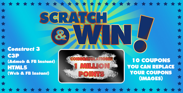 [Free Download] Scratch & Win Game (Construct 3   C3P   HTML5) Admob and FB Instant Ready (Nulled) [Latest Version]