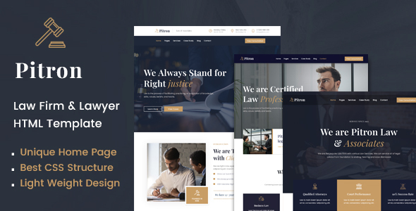 [Free Download] Pitron | Law Firm & Lawyer HTML Template (Nulled) [Latest Version]