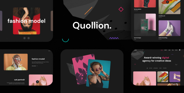 [Free Download] Quollion – Colorful Agency & Portfolio Figma Template (Nulled) [Latest Version]
