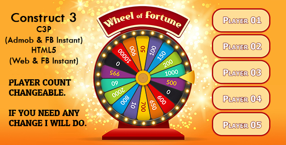 [Free Download] Wheel of Fortune Game v2 (Construct 3   C3P   HTML5) Admob and FB Instant Ready (Nulled) [Latest Version]