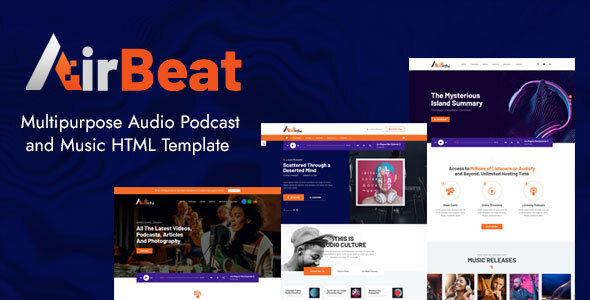 [Free Download] AirBeat | Multipurpose Audio Podcast & Music HTML Template (Nulled) [Latest Version]