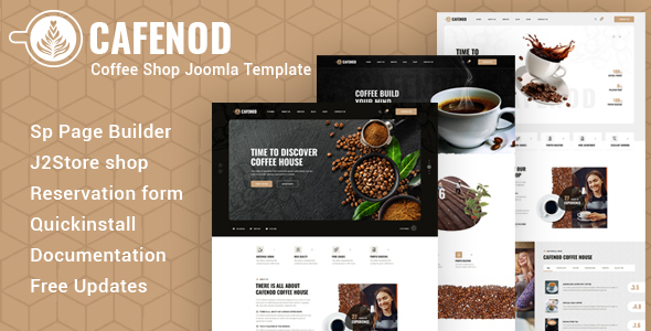 [Free Download] Cafenod – Coffee Shop Joomla Template (Nulled) [Latest Version]