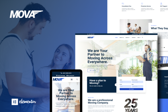 [Free Download] Mova – Moving Company Elementor Template Kit (Nulled) [Latest Version]