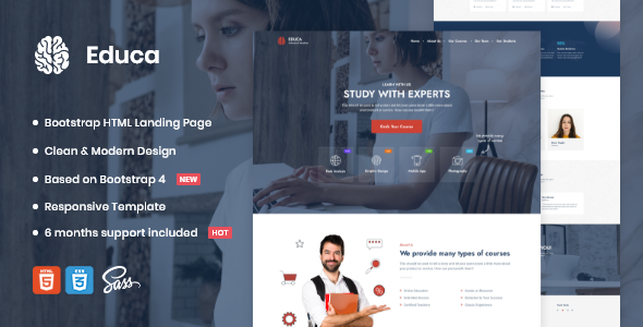 [Free Download] Educa   Landing Page Template (Nulled) [Latest Version]