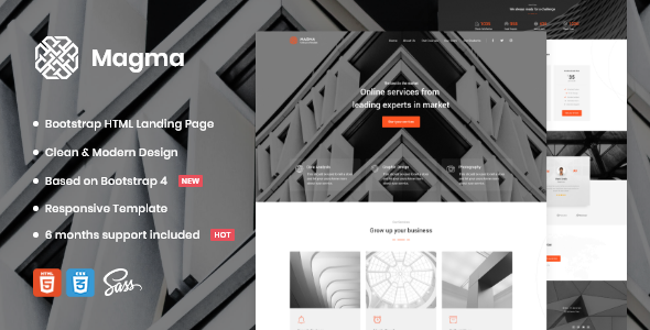 [Free Download] Magma – Business Landing Page Template (Nulled) [Latest Version]