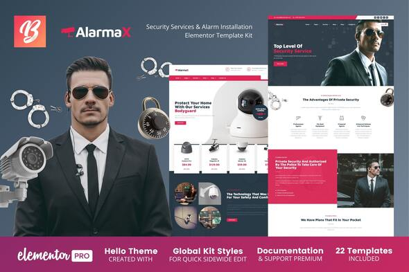 [Free Download] Alarmax – Security Services & Alarm Installation Elementor Template Kit (Nulled) [Latest Version]