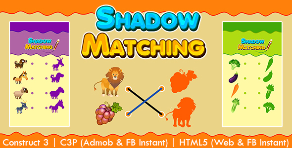 [Free Download] Shadow Matching Kids Learning Game (Construct 3 | C3P | HTML5) Admob and FB Instant Ready (Nulled) [Latest Version]