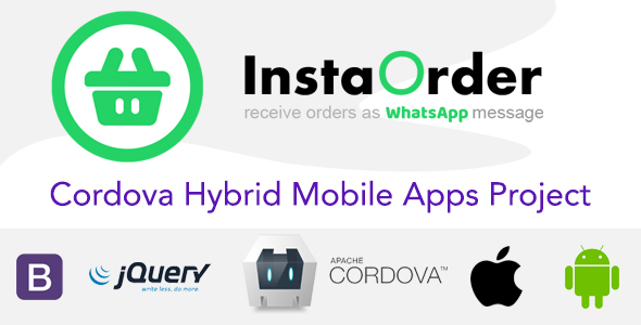 [Free Download] InstaOrder – Orders using WhatsApp – Hybrid Mobile Apps – Cordova | iOS | Android (Nulled) [Latest Version]