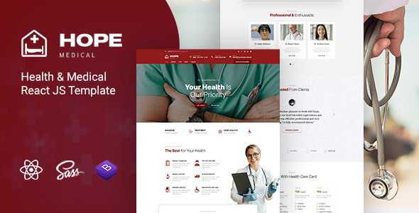 [Free Download] Hope – Health & Medical React JS Template (Nulled) [Latest Version]