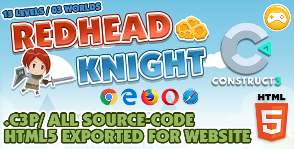 [Free Download] Redhead Knight – Platform / Side-scrolling HTML5 Game – Construct 3 (Nulled) [Latest Version]