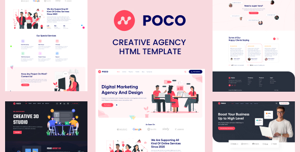 [Free Download] Poco – Bootstrap 4 Agency HTML Template (Nulled) [Latest Version]