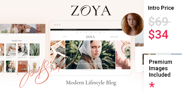 [Free Download] Zoya – Lifestyle Blog (Nulled) [Latest Version]