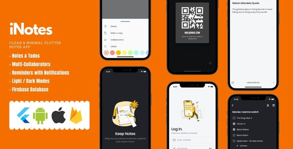 [Free Download] iNotes – Keep Notes and To-Dos app With Firebase, plus a Clean & Minimal UI (Nulled) [Latest Version]