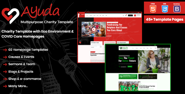 [Free Download] Ayuda | Multipurpose Charity HTML Template (Nulled) [Latest Version]