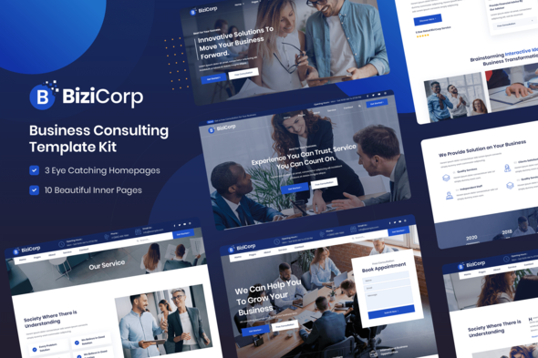 [Free Download] BiziCorp – Business Consulting Template Kit (Nulled) [Latest Version]