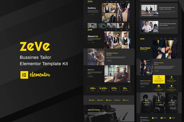 [Free Download] Zeve – Tailor Service Elementor Template Kit (Nulled) [Latest Version]