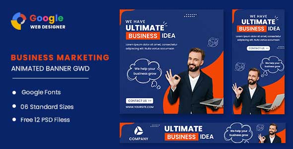 [Free Download] Business Strategy Animated Banner GWD (Nulled) [Latest Version]