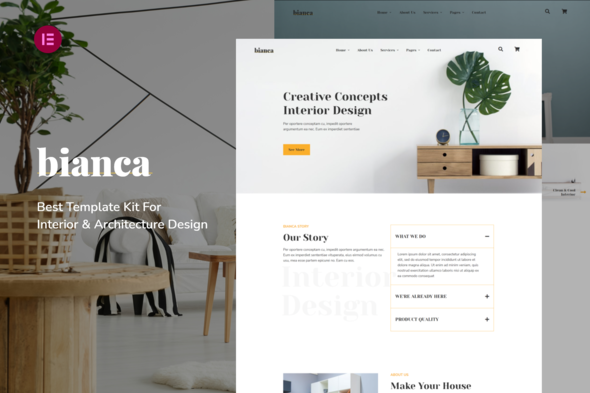 [Free Download] Bianca   Architecture & Interior Elementor Template Kit (Nulled) [Latest Version]