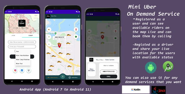 [Free Download] Mini Uber  RealTime Live Ride Sharing Application – Turn it into Any On Demand Service App (Nulled) [Latest Version]