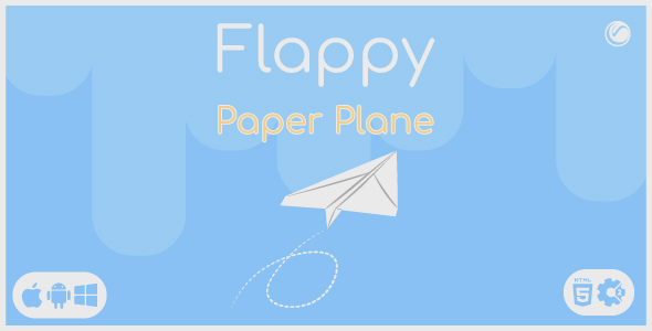 [Free Download] Flappy Paper Plane | HTML5 • Construct Game (Nulled) [Latest Version]