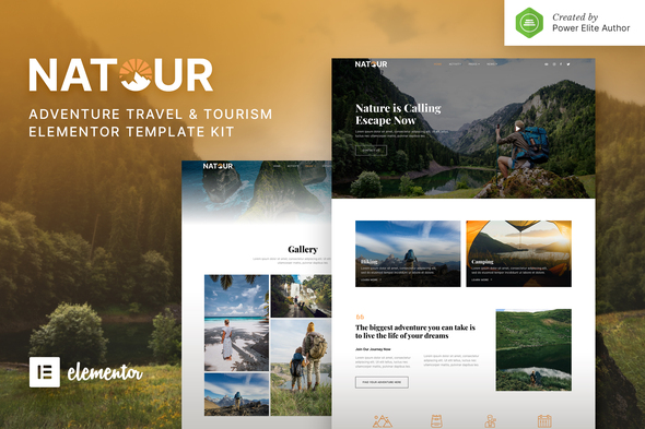 [Free Download] Natour – Adventure Travel & Tourism Elementor Template Kit (Nulled) [Latest Version]
