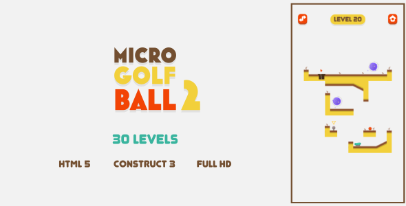 [Free Download] Micro Golf Ball 2 – HTML5 Game (Construct3) (Nulled) [Latest Version]