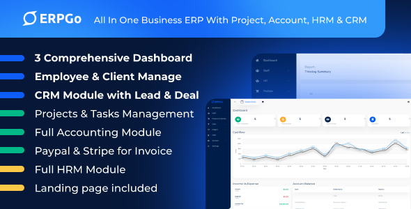 [Free Download] ERPGo – All In One Business ERP With Project, Account, HRM & CRM (Nulled) [Latest Version]
