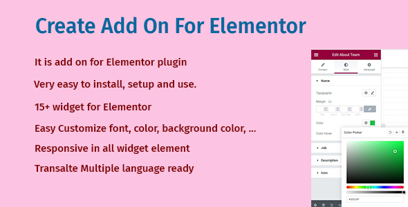 [Free Download] Create Add On For Elementor (Nulled) [Latest Version]