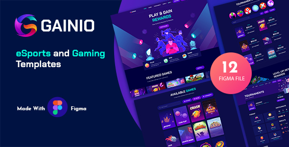 [Free Download] Gainio – eSports and Gaming Figma Templates (Nulled) [Latest Version]