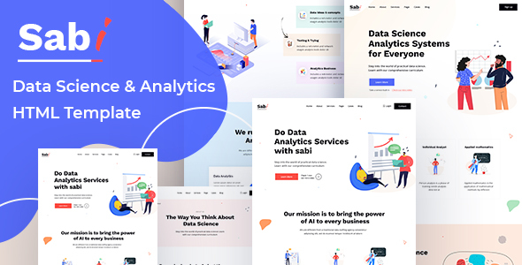 [Free Download] Sabi – Digital Data Science HTML Template (Nulled) [Latest Version]