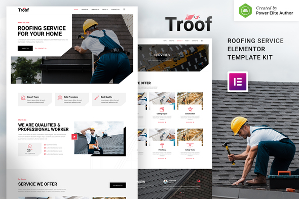 [Free Download] Troof – Roofing Service Elementor Template Kit (Nulled) [Latest Version]