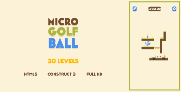 [Free Download] Micro Golf Ball – HTML5 Game (Construct3) (Nulled) [Latest Version]