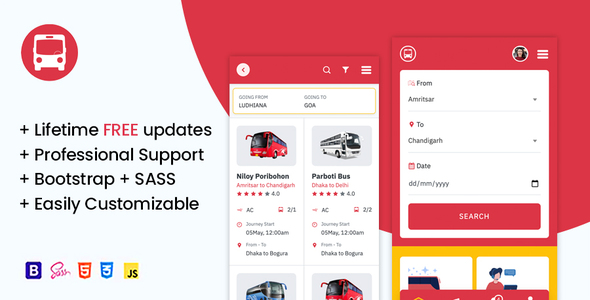 [Free Download] OsahanBus – Bus Booking HTML Mobile Template (Nulled) [Latest Version]