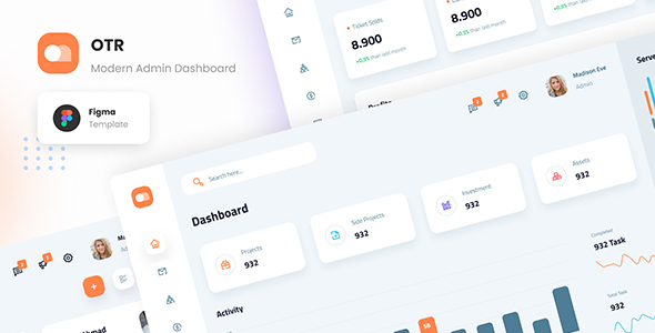 [Free Download] OTR – Clean Admin Dashboard Figma Template (Nulled) [Latest Version]