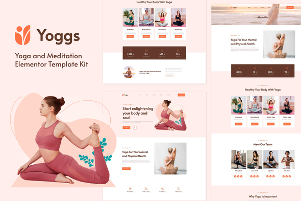 [Free Download] Yoggs – Yoga & Meditation Elementor Template Kit (Nulled) [Latest Version]