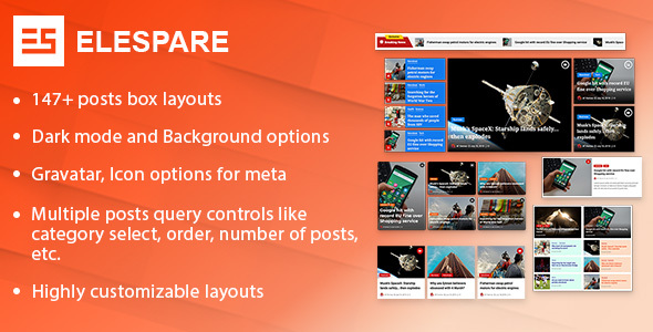[Free Download] Elespare Pro – Advanced News Magazine Blog Add-ons for Elementor (Nulled) [Latest Version]