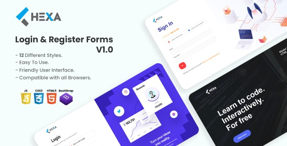 [Free Download] Hexa – The Ultimate Login & Registration HTML5 Forms (Nulled) [Latest Version]