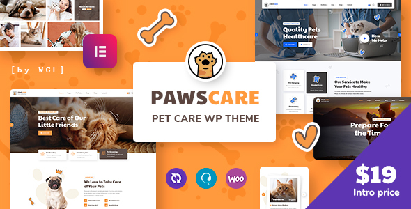 [Free Download] PawsCare – Pet Care & Veterinary WordPress Theme (Nulled) [Latest Version]