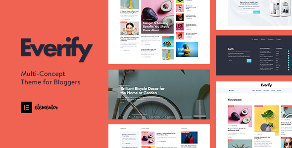 [Free Download] Everify – Multi-Concept Theme for Bloggers (Nulled) [Latest Version]